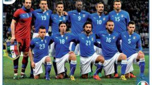 La foto Panini della Nazionale italiana che prenderà parte al torneo.