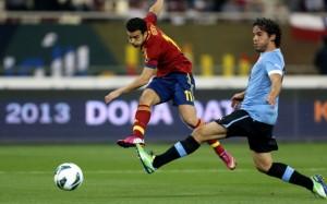 Pedro Rodríguez ha siglato il gol d'esordio della Spagna. Detiene il record, con il gol di ieri, di aver segnato in tutte le manifestazioni a cui ha partecipato.