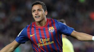 Alexis Sanchez con la maglia del Barcellona