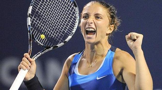 Sara Errani, vincitrice agli ottavi di finale dello US Open