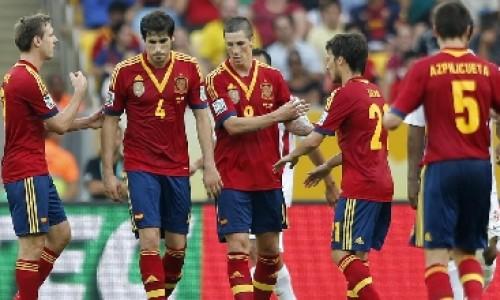 L'esultanza della Spagna