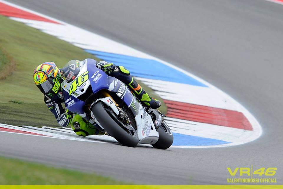 Valentino Rossi con la Yamaha
