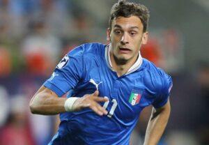 Manolo Gabbiadini con la maglia della Nazionale
