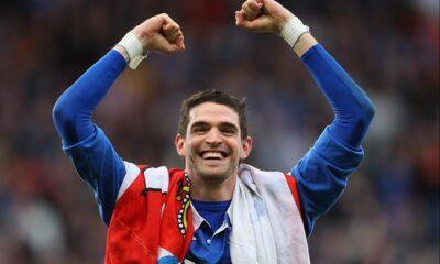 Kyle Lafferty, con la maglia dei Rangers Glasgow