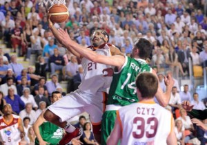 Virtus Roma - Montepaschi Siena: Jordan Taylor in azione