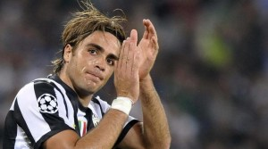 Alessandro Matri con la maglia della Juventus