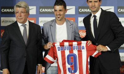 Senza Diego Costa, sarà Villa a guidare l'attacco dell'Atletico Madrid