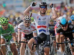 Mark Cavendish con la maglia dell'Omega Pharma