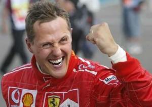 Michael Schumacher, ex campione del Mondo on la Ferrari