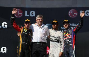 Podio del Gran Premio d'Ungheria 2013