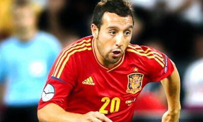 Santi Cazorla con la maglia della nazionale spagnola