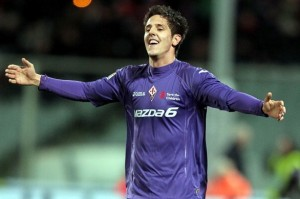 Stefan Jovetic con la maglia della Fiorentina