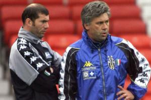 Zidane ed Ancelotti ai tempi della Juventus