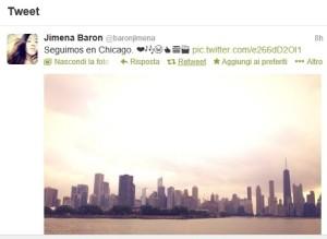 """Il """"tweet"""" di Jimena Baron, la fidanzata di Pablo Daniel Osvaldo"""
