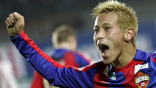 Keisuke Honda esulta dopo un gol