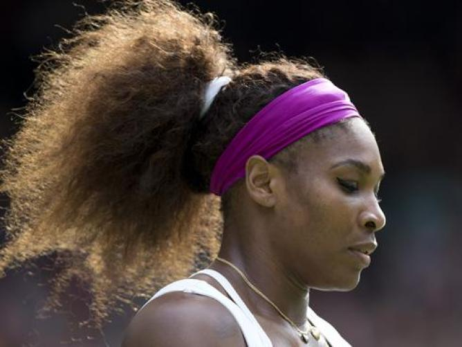 la fortissima Serena Williams durante gli Australian Open