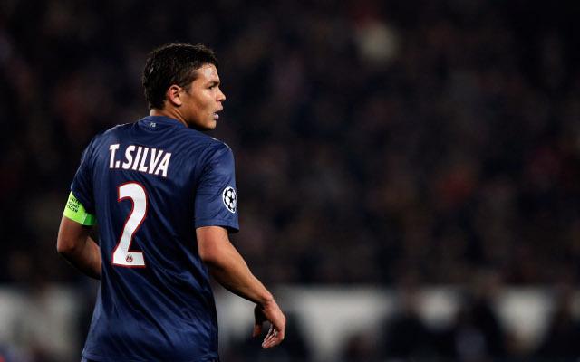 Thiago Silva con la maglia del PSG