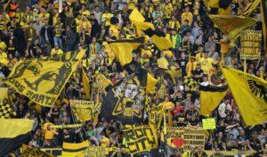 La splendida tifoseria del Borussia