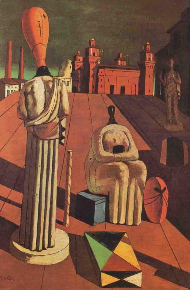 """Giorgio De Chirico, """"Le Muse inquietanti"""", 1916, Milano, Collezione Mattioli"""