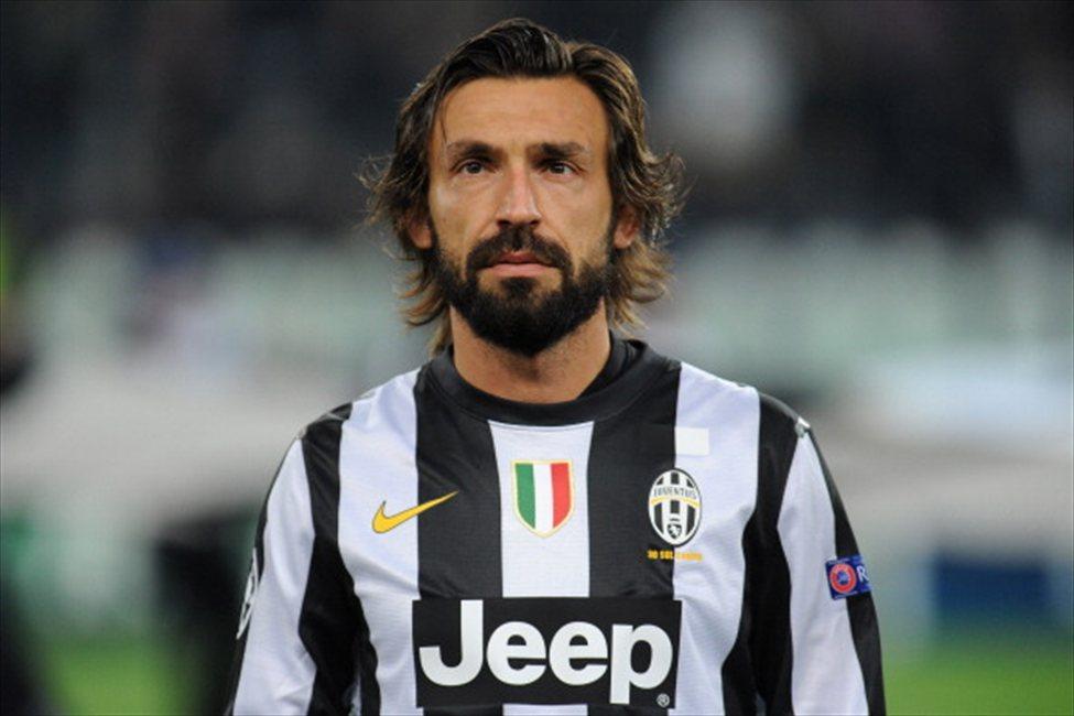 Andrea Pirlo con la maglia della Juventus