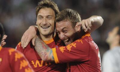 De Rossi e Totti impegnati con il Bologna. Le probabili formazioni