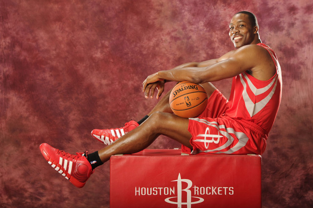 Dwight Howard con la casacca dei Rockets. Nba mercato.