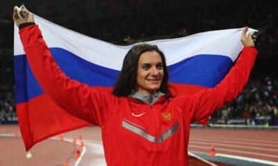 Elena Isinbaeva, campionessa mondiale russa di salto con l'asta
