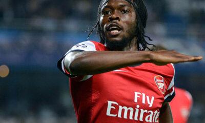 Gervinho con la maglia dell'Arsenal