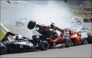 L'incidente di Alonso nella scorsa edizione del Gran Premio di Formula 1