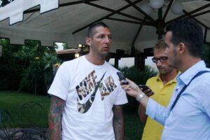 Macellai: Marco Materazzi durante una intervista