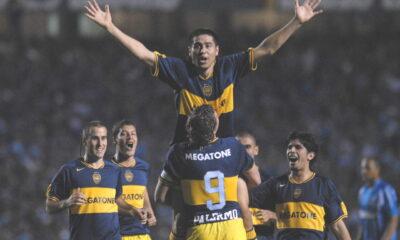 Juan Riquelme, con la maglia gialloblu del Boca Juniors