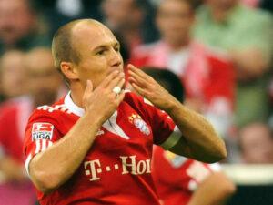 Robben con la maglia del Bayern Monaco