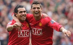 Juventus: Un giovane Ronaldo insieme a Tevez ai tempi di Manchester