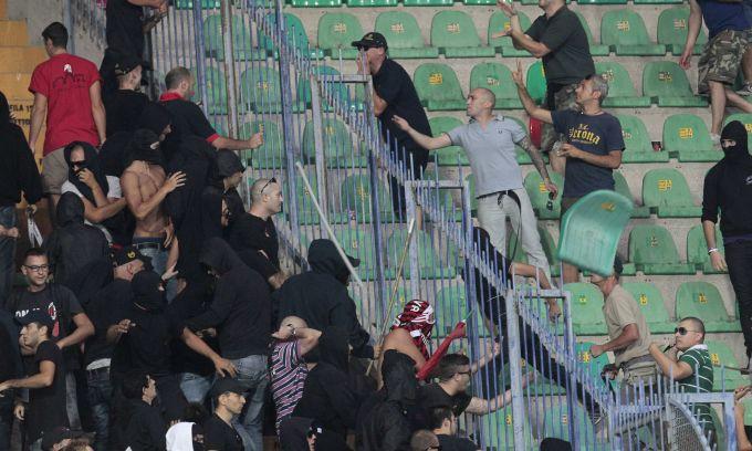 Scontri fra tifosi in Verona-Milan del 24 agosto 2013