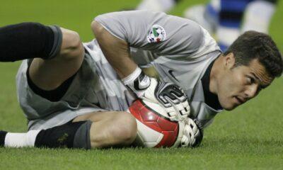 Julio Cesar con la maglia dell'Inter