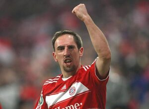 Frank Ribery esulta dopo un gol