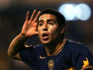 Juan Riquelme con la maglia del Boca Juniors