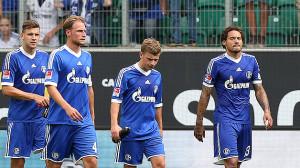 Schalke 04 dopo un gol subito