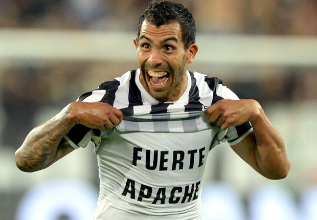 Carlitos Tevez, alla ricerca del primo goal in Champions con la Juventus