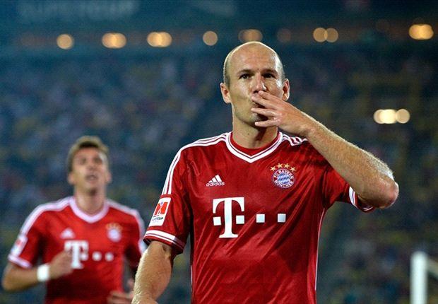 Arjen Robben, a segno nella finale di Champions 2012/2013