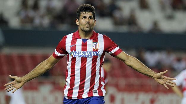 Diego Costa, attuale capocannoniere della Liga spagnola nell'Atletico Madrid dei record