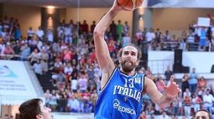 Gigi Datome, protagonista assoluto dell'esordio vittorioso dell'Italbasket