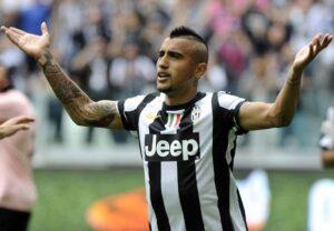 Arturo Vidal, centrocampista della Juventus potrebbe saltare il match di Champions