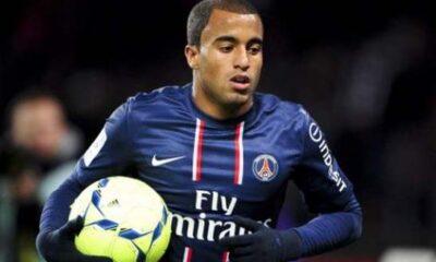 Lucas con la maglia del PSG
