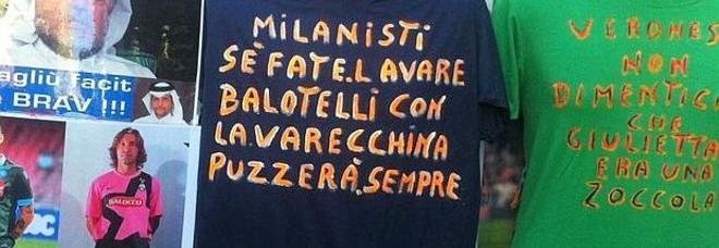 Maglietta razzista dedicata a Mario Balotelli