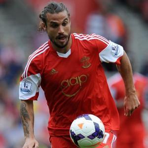 Osvaldo con la maglia del Southampton