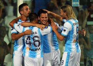 Esultanza del Pescara dopo un gol