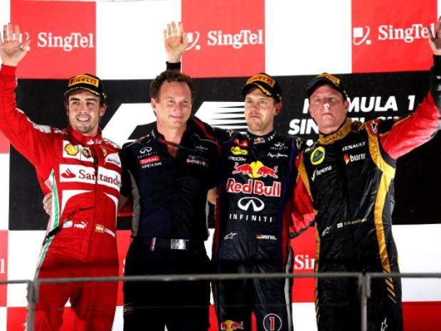 Il podio del GP Singapore 2013 di F1
