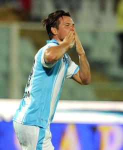 Riccardo Maniero con la maglia del Pescara