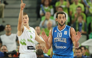 Marco Belinelli non è riuscito a trascinare l'Italia contro la Slovenia